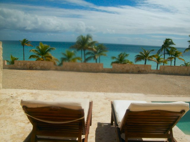 Deck Chairs at 'The Fortress'..Elegant building at Sanctuary Cap Cana
