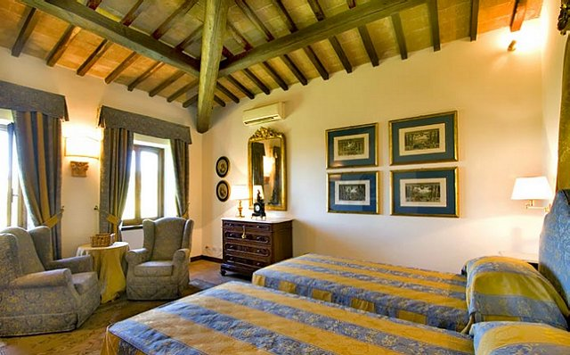 Lovely Italian Bedroom at a Villa Rental.