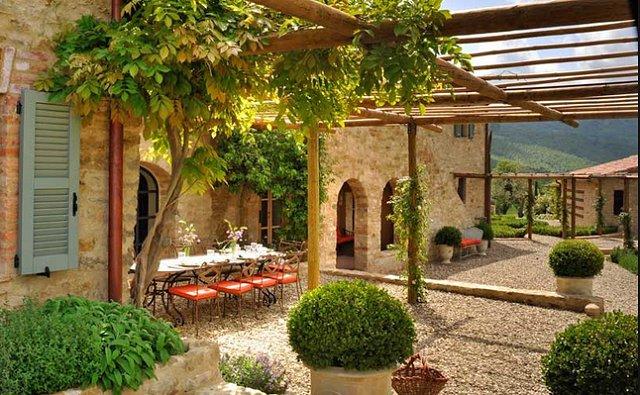 Your Italian Villa Courtyard